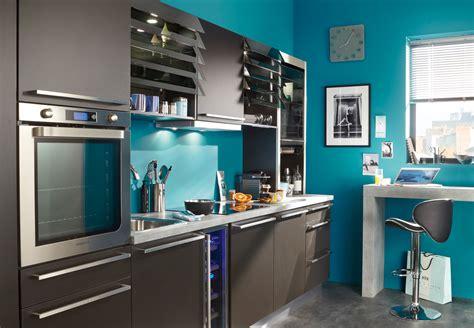 peinture cuisine bleu cuisines conforama nos modèles préférés femme actuelle