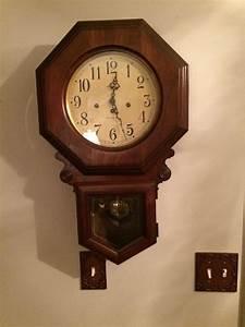 Vintage howard miller regulator wall clock ebay for Vintage howard miller wall clock