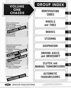 1971 Ford Truck Repair Shop Manual Original 5 Volume Set