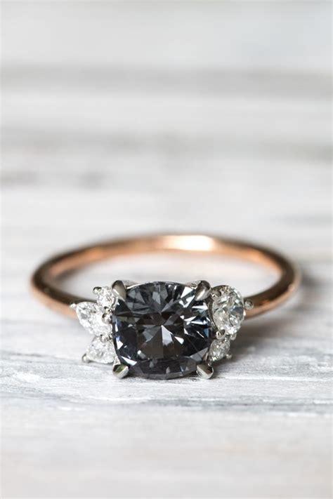 black engagement rings ideas  pinterest black