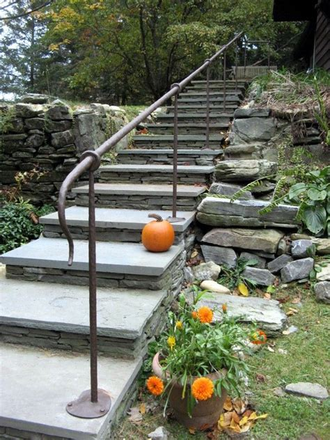 Wrought Iron Handrail With Hammered Finish Stair