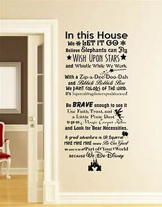 in this house we do disney wall decal disney wall quotes wall With inspirational disney sayings wall decals