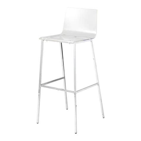chaise de bar transparente chaise de bar en plastique acrylique et métal transparente