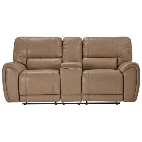 microfiber reclining sofa with console city furniture bailey taupe microfiber reclining console