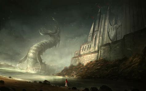sea monster wallpaper  images