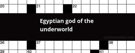 foto de Egyptianof the underworld crossword clue