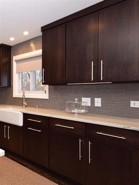 Ikea Espresso Kitchen Cabinets by Flat Slab Hickory Kitchens Kitchen Cabinets Kitchen