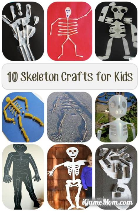 10 skeleton crafts to learn about human 124 | Skeleton Crafts for Kids to Learn About Human Body