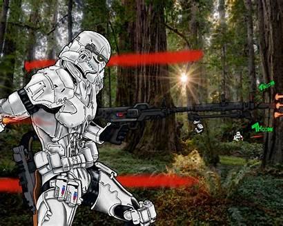 Endor Battle Hipwallpaper Deviantart Epic