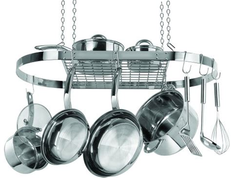 Kitchen Stainless Steel Hanging Pot Rack Hanger Organizer