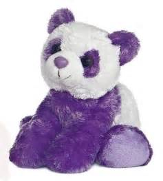 Purple Panda Bear Stuffed Animal