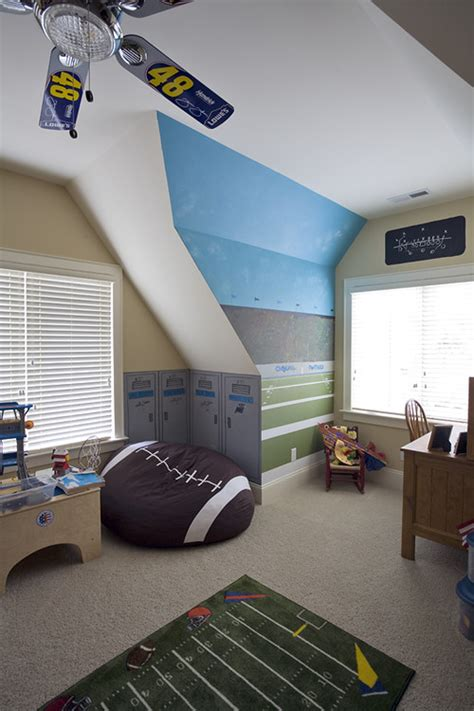Soccer Themed Bedroom Photography by Redecorating Your Child S Room In A Sporty Theme The