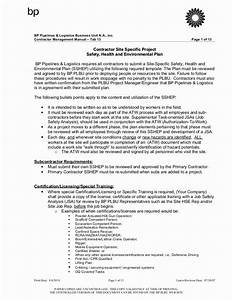 Construction Safety Plan Template In 2020  With Images