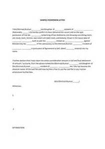 Cover Letter Meaning Possession Letter Format From Builder Best Template Collection