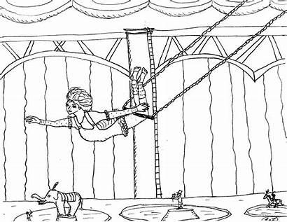 Trapeze Coloring Pages Showman Greatest Circus Artist