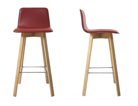 Wooden Bar Chairs With Backs by Kitchen Stools With Backs Contemporary Wooden Upholstered