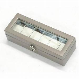 Coffret Rangement Montre : rangement montres bagues bracelets et colliers ~ Teatrodelosmanantiales.com Idées de Décoration