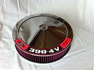 Chrome Air Cleaner Washable Red Filter 14 U0026quot  Quadrajet