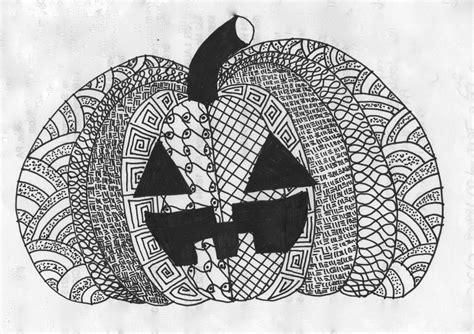 zentangle halloween art holiday art projects zentangle art