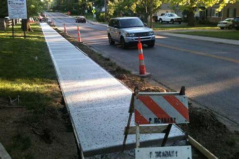 how wide is a sidewalk new poll would six feet wide sidewalks suffice for trails in prairie village