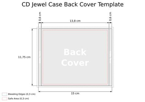 cd template jewel case  heath park group