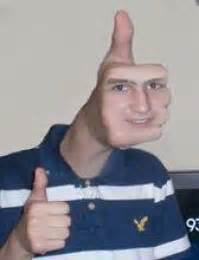 Thumbs Up Kid Meme - thumbs up face blank template imgflip