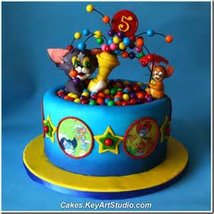 tom and jerry cake topper a with this tom and jerry cake between the pages