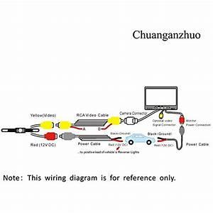 Backup Camera And Monitor Kit  Chuanganzhuo Waterproof Vehicle Car Rear View