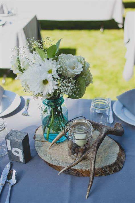 DIY Rustic Wood Antler Candle Centerpieces Wedding
