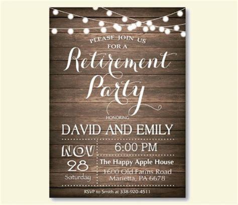 beautiful retirement party invitation designs word