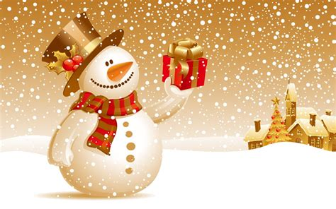 snowman christmas gift wallpapers hd wallpapers id 4767