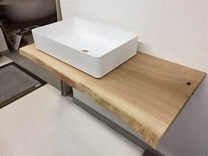Waschtischplatte Holz Massiv : waschtischplatte wp2 eiche 6 cm vollmassiv echtholz ~ Yasmunasinghe.com Haus und Dekorationen