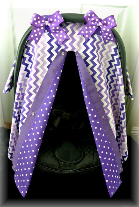 purple car seat canopy car seat cover car seat canopy chevron purple by