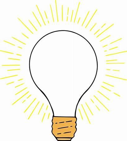 Lightbulb Clipart Bulb Transparent Lamp Lighted Sign