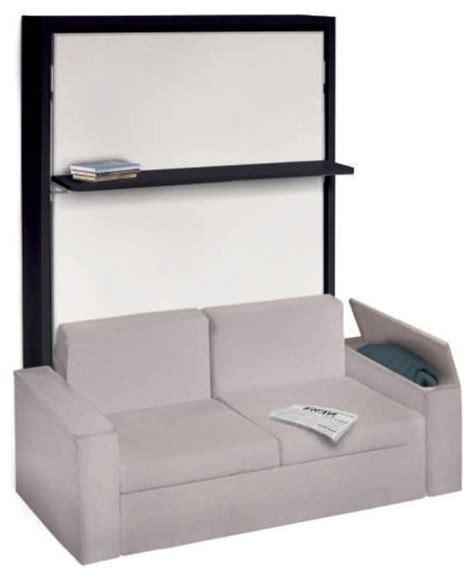 canapé avec pouf intégré armoire lit avec canapé intégré pour un véritable gain de