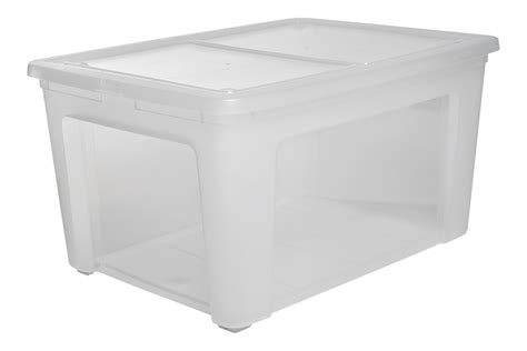 Extra Large Clear Plastic Storage Box With Lid 133 Litre
