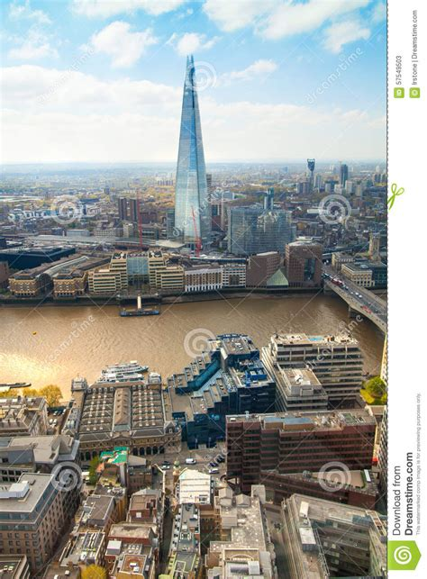 river thames floor view includes river thames bridge and shard 1969