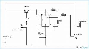 Continuity Tester Circuit Diagram Using 555 Timer Ic