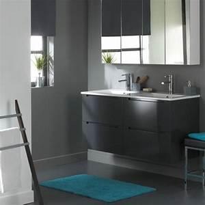 meuble de salle de bain 120 cm 4 tiroirs gris l achat With meuble salle de bain 120 cm bois