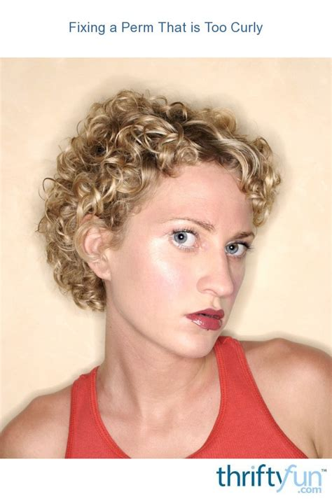 fixing  perm    curly thriftyfun