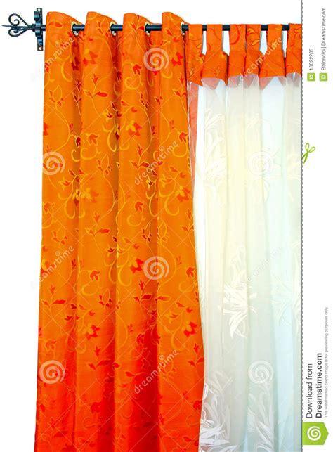 orange curtain royalty free stock photo image 16022205