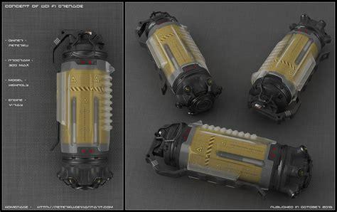 Sci-fi Grenade concept by peterku on DeviantArt