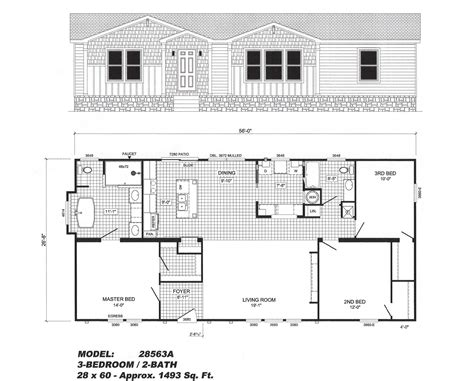 home floor plans with pictures 3 bedroom floor plan b 2856 pat hawks homes
