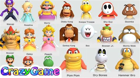 Super Mario Party All Characters Win Celebrations