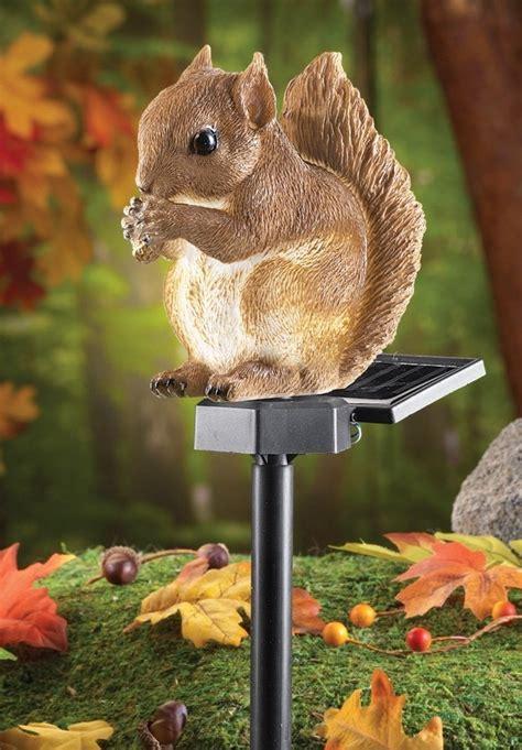 solar squirrel garden stake fresh garden decor