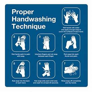 Handwashing Steps Signs