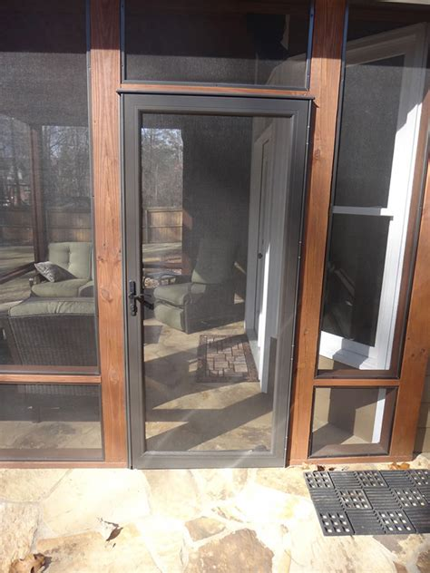 screened in porch doors before after screen porch photos exovations