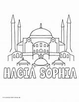 Coloring Sophia Mosque Caleb Jw History Coloriage Drawing Sofia Getcolorings Mesopotamia Volume sketch template