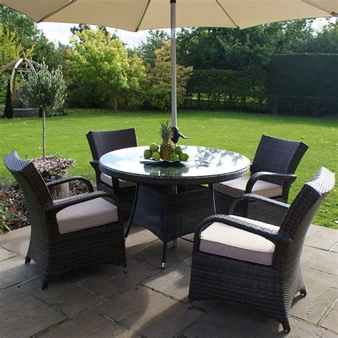 all weather 4 seater outdoor rattan garden furniture