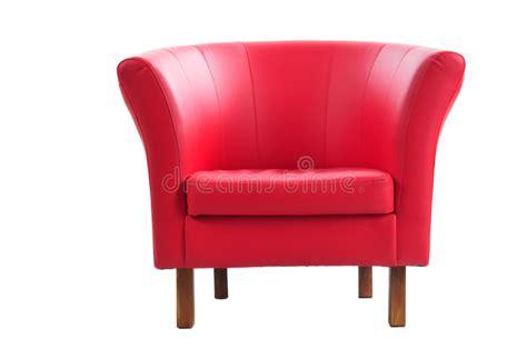 Poltrona Rossa Fotografia Stock. Immagine Di Domestico